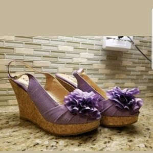 Chinese Laundry Lilac Wedge Sandals NEW